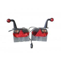 Kit feux 7 fonctions + corne pour tube 80x40