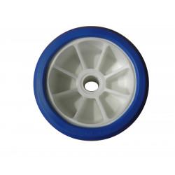 Galet bi-matière blanc/bleu diamètre 120 - Alésage 17