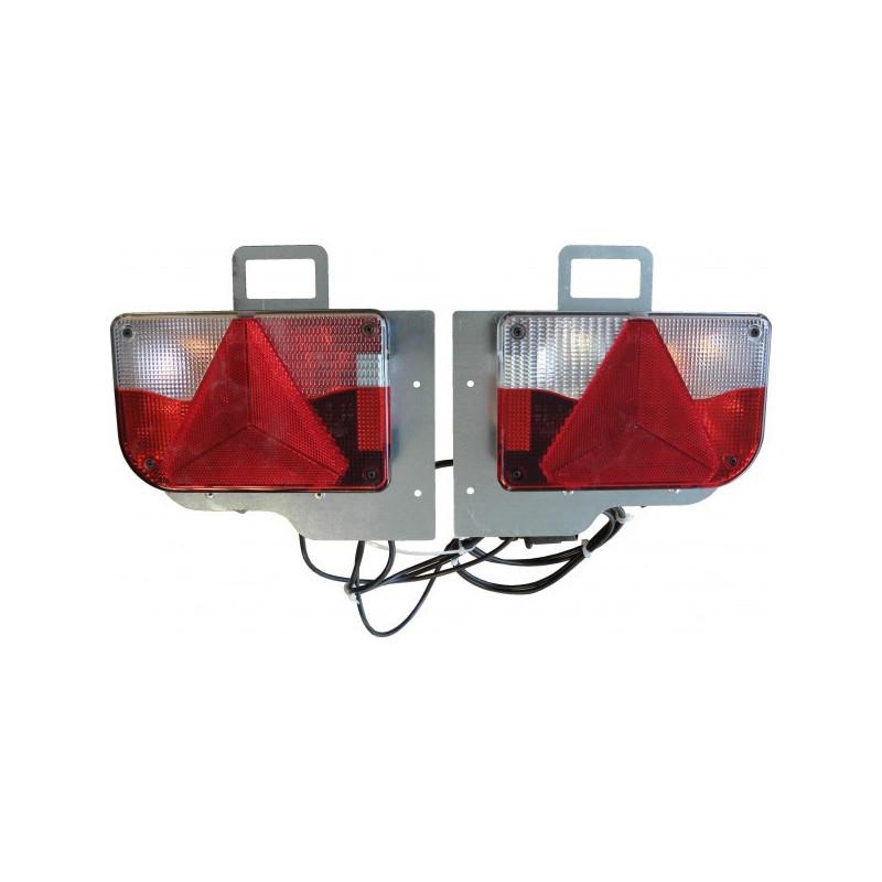 kits blocs feux s par s 80x40 lanternes 6 fonctions cbs remorques. Black Bedroom Furniture Sets. Home Design Ideas