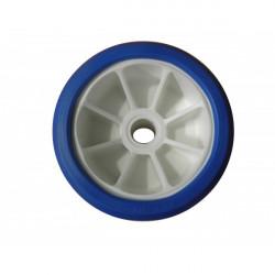 Galet bi-matière blanc/bleu diamètre 120 - Alésage 21.5