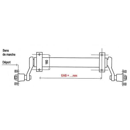 Essieu-750-kg-ALKO-remorque-EAB-1020mm-4-x-130mm-CBS-Remorques