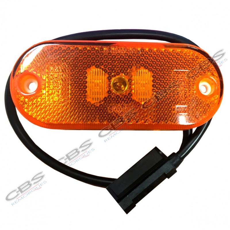 Feu side marker orange à leds + câble
