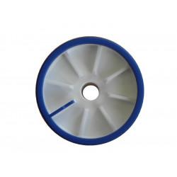 Galet bi-matière bleu/blanc