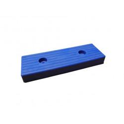 Patin moulé en 300 mm bleu
